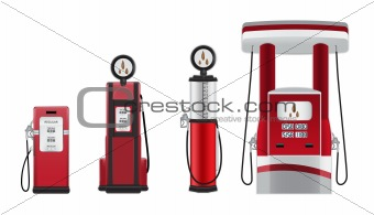 gasoline pumps vector illustration
