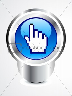 abstract glossy hand cursor button