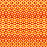 Orange seamless pattern with geometric motifs