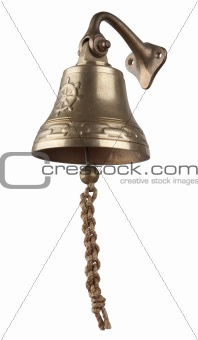 Antique brass ship's bell