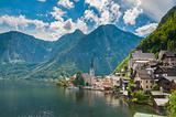 Beautiful summer Alpine Hallstatt Town
