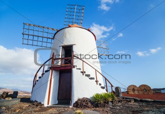 beautiful windmill in lanzarote
