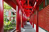 Chinese Buddhist Temple Outside Corridor 