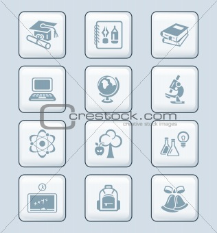 Education icons | TECH series