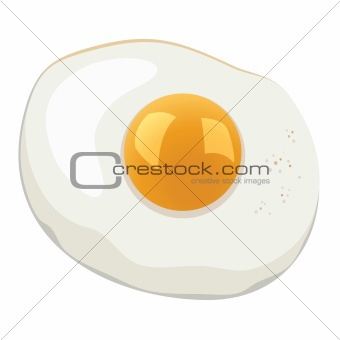 vector fried egg