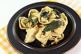 fresh tortellini with sage butter