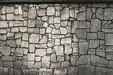 The wall is made from fragments of monuments