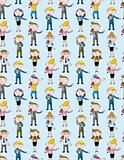reporter people seamless pattern