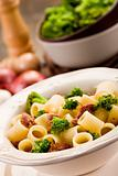 Pasta with sausage and broccoli