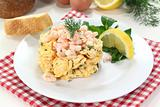 Scrambled egg with shrimp