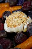 Detail of Garlic and other Root Vegetables