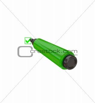 Green marker pen.