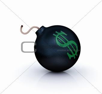 dollar crisis symbol