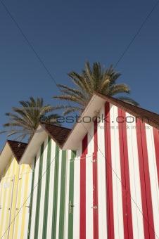 Beach huts detail