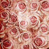 Grunge  Roses Background
