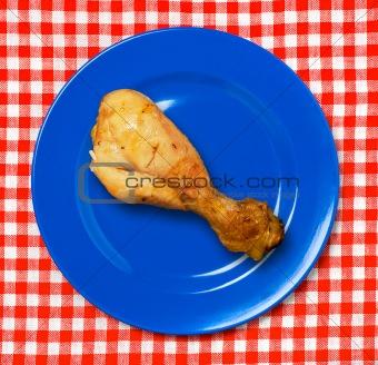 BBQ chicken drumstick .