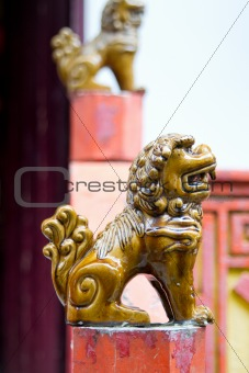 Ceramic Foo Lion Statues