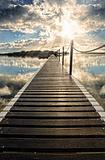long pier into water