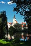 Park in Telc town Czech Republic