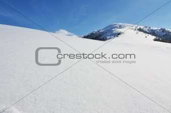 Beautiful snow-capped in mountains
