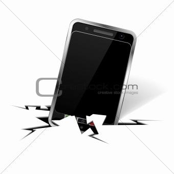 Smartphone in Crack