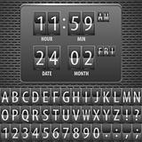 Countdown Timer on the Mechanical Timetable