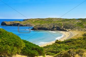Cala de en Tortuga beach in Menorca, Balearic Islands, Spain