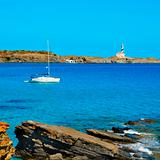 Favaritx beacon in Menorca, Balearic Islands, Spain
