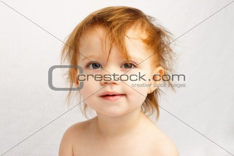 Child Crazy Hair White Background