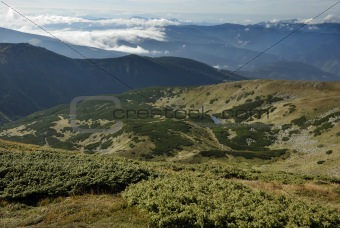 beautiful mountain scenery in Carpathian mountains