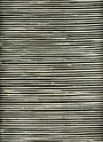 closeup black and white striped rattan background