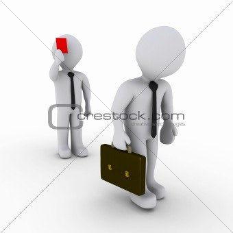 Businessman is fired with red card