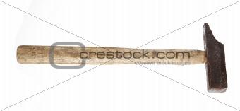 Old rusty hammer
