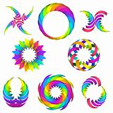 rainbow logo set for your design