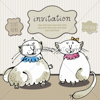 Cat card invitation