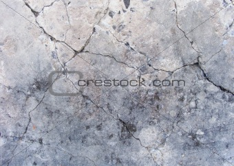 grunge damaged concrete wall surface in gray , beige and blue