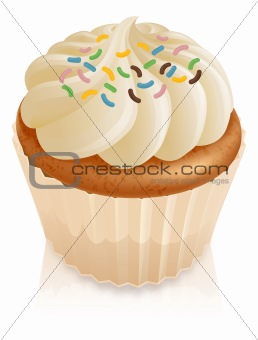Fairy cake cupcake with sprinkles