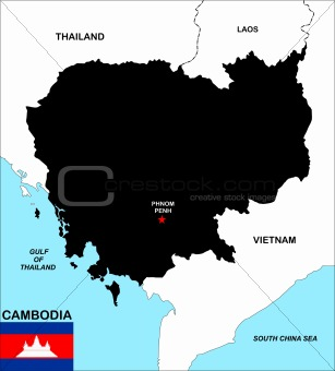 cambodia map