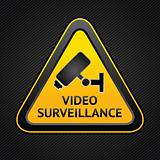 CCTV triangle symbols, web button