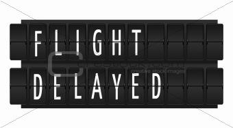 Flight delayed text