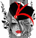 abstract black-red dame