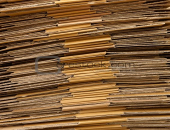 folded cardboard