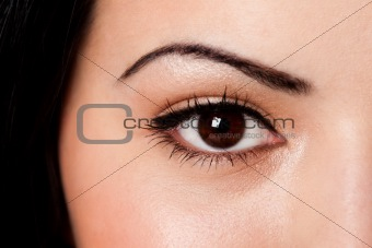 Eyebrow and eye