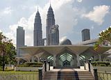 Masjid Asy-Syakirin Muslim Mosque in Kuala Lumpur City Center Pa