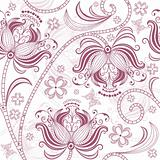 Burgundy seamless floral pattern