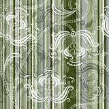 Striped floral pattern