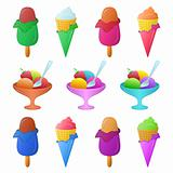 Ice cream, set