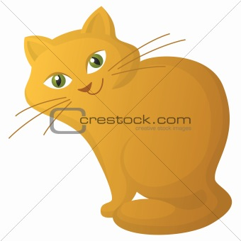 Red cartoon cat
