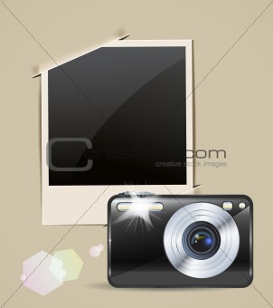 camera and photo frame