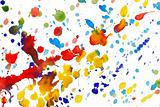 Abstract colorful watercolor splashes